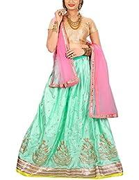 ShreeBalaji multicolor silk embroidary Lehenga Choli (SBE-013_Free Size)