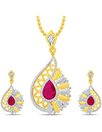 Sukkhi Bewitching Gold And Rhodium Plated Pendant Set With Chain