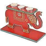 Amit Diyas Clay Tea Light Candles With Holder (26 Cm X 20 Cm X 26 Cm)