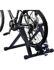 Home trainer pour velo noir equipement/support entrainement velo 58