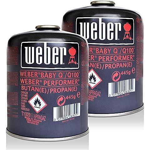 2x Weber cartuccia di gas 26100per Q 100Serie e Performer touch-N-Go