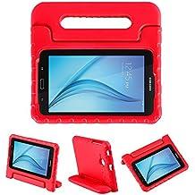 LEADSTAR Samsung Galaxy Tab E 7.0 Lite Ligero y Super Protective Antichoque EVA Funda Diseñar Especialmente para los Niños para Samsung Tab 3 7.0 Lite T110 T111 & Tab E 7.0 Lite T113 - Rojo