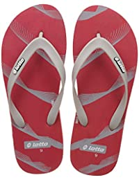 Lotto Men's Red/Grey Hawaii House Slippers