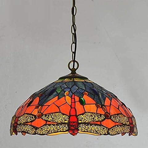CNMKLM Classic vetro arancione Dragonfly Ristorante pendente soffitto lampade catena Semi-Circle camera da letto fatti a mano Banco Bar Sala da Pranzo Le luci pendenti