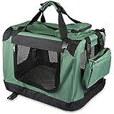 Bon Enjoy® Cómodo Casa de transporte para mascotas Transportín plegable para perro.Color:Verde