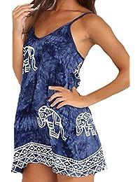ZANZEA - Vestido - para mujer Azul azul 46