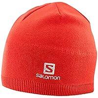 Salomon Gorro de invierno, salomon beanie, rojo (Fiery Red), unisex, talla única