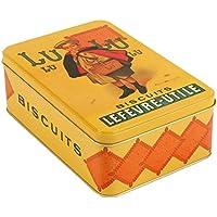 French Classics - Scatola di metallo, motivo con biscotti LU, 18 x 12 x 7 cm