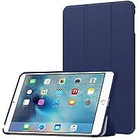 MoKo Funda para iPad Mini 4 - Ultra Slim Lightweight Función de Soporte Protectora Plegable Smart Cover Durable Para Apple iPad Mini 4 7.9 Pulgadas 2015 Tableta, AZUL Oscuro (Auto Sueño / Estela)