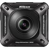 Nikon KeyMission 360 - Cámara de 21.14 MP (resistencia al agua, polvo y a los impactos, comunicaciones Bluetooth, Wi-Fi, NFC), negro - con 2 objetivos Nikkor de 8.7 mm