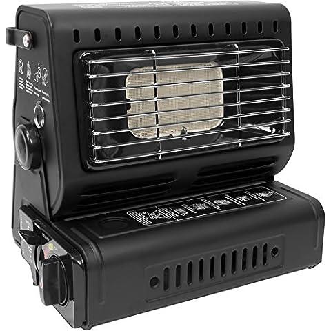 Calentador de Gas Gas Calentador radiante para la En exterior con Piezo Ignición - Negro
