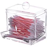 Sooyee Acrylic Cosmetic Q-tip Cotton Swabs Balls Buds Holder Makeup Storage Case Dispenser Organizer,Clear,pack...