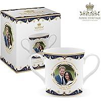Royal Heritage H.R.H Harry and Megan Markle Wedding Commemorative Loving Cup, Fine China, Multi-Colour, 14 x 8.5 x 8 cm