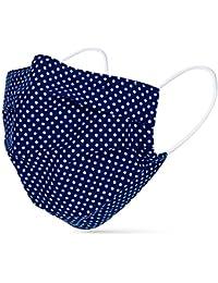 tanzmuster ® Behelfsmaske waschbar 100% Baumwolle - OEKO-TEX 100 mit Nasenbügel und Filtertasche - Community Maske handmade und wiederverwendbar 2-lagig