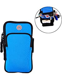 Running Belts Blue: SAVORI Waterproof Sports Armband Bag Running Wrist Pouch Bag Phone Arm Package For Climbing...