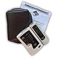odedo® Comprobador de cables RJ45/RJ11Probador con unidad remota, red, leitungstester LAN ISDN DSL Cat 5/6/7Patch Cable, Ethernet Network Cable Tester