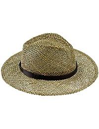 EveryHead Fiebig Cappello Di Paglia Da Uomo Paglietta Estate Spiaggia  Cowboy Coneflower Cappellino Per Le Feste Unisex Uomini (FI… a14dd936bdae