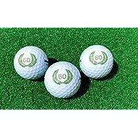 Juego de 3 Pelotas de Golf Cumpleaños 60 con Happy Birthday Diseño en Caja de Regalo/Golf Regalo de cumpleaños
