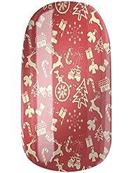 Nagelfolien/Christmas Time selbstklebend mit individuellen Designs by Glamstripes- made in Germany. 12 Nail Wraps äußerst strapazierfähig mit langer Haltedauer