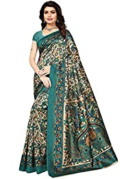 Ishin Poly Synthetic Printed Women's Saree Sari