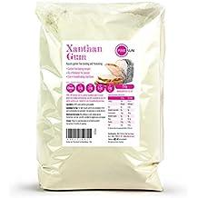 PINK SUN Goma Xantana Sin Gluten Espesante Polvo Extra Fino - Xanthan Gum Powder 250g Gluten