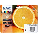 Encre d'origine EPSON Multipack Oranges T3337 : cartouches Noir, Noir photo, Cyan, Magenta, Jaune