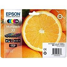 EPSON 33 Claria Oranges Premium Photo Ink Cartridge - Black/Cyan/Magenta/Yellow (Multi-Pack)