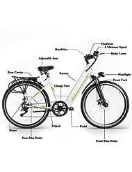 """Vélo VTT Roues 26"""" Pliant en Aluminium Électrique 21 Vitesses Mixte Adulte avec Batterie Lithium Ion 36V 8AH"""