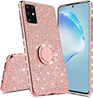 Samsung Galaxy M31 Phone Case,Girls Glitter Sparkle Kickstand Bling Case Luxury Shiny Crystal Rhinestone Diamo