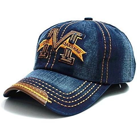 Gorra de béisbol con visera, talla M, estilo hip-hop multicolor azul Regular