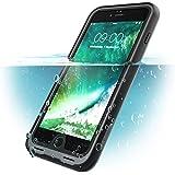 iPhone 8 Plus Hülle, i-Blason [Aegis] Wasserdicht Schutzhülle Ganzkörper Robustes Handyhülle mit eingebautem Displayschutz (Kompatibel mit Apple iPhone 7 Plus / iPhone 8 Plus) (Schwarz)