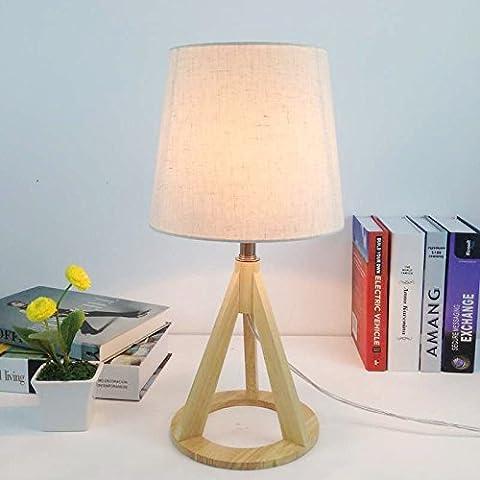 LLYY-Tavolo in legno semplice lampada moderna accogliente hotel lampada da tavolo-LYA