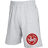 Cotton Island - Pantalone Tuta Corto TAM0125 ma shotokan tiger stitch red tshirt