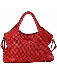 ec8d71e80b0bd BZNA Bag Tia Rot red Italy Designer Damen Handtasche Schultertasche Tasche  Leder Shopper Neu
