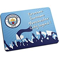 Official Personalised Manchester City Legend Mouse Mat - FREE PERSONALISATION