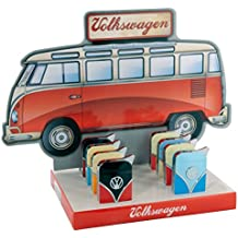 VW Volkswagen Camper VAN Two Tone Gas Lighter With VW Motiff by (Bic Holder Lighter)