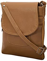 Women And Girls Sling Bags (Tan Colour)