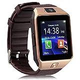 Piqancy DZ09 Camera,Touch Screen, Bluetooth, Support SIM Card, SD Card Smartwatch, (Gold)