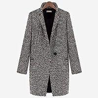 TJOIREJ Abrigos De Mujer Otoño Invierno Mujer Abrigo LargoAbrigos De Un Solo Pecho Mujer Un Botón Abrigo Slim Plus Talla, Gris, XL