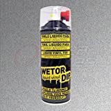 Spray pintura vinilo removible - Wetor Dip - Aluminio metalizado - 400 ml
