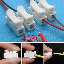 yagaiu sin soldaje. rápido 2P Cable Alambre Conector no Clema Bloque resorte, ...