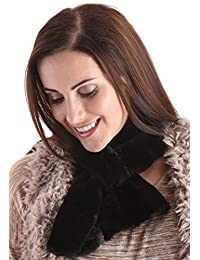RJM Ladies Faux Fur Short Muffler Loop Through Scarf