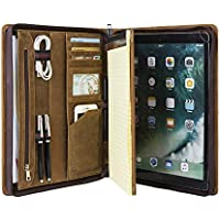 Cohokori - Funda de Piel sintética con Cremallera para iPad Pro 3 / Pro 4, tamaño A4, con Soporte para iPad, Color marrón, iPad Pro 12.9