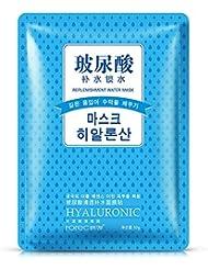 Oshide 4Pcs Masque Visage Hyaluronic Acid Hydratant Anti Aging Anti-Winkle Masque Facial