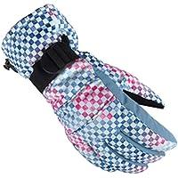 Gfone - Guantes de esquí Impermeables para Deportes al Aire Libre, Resistentes al frío, Azul, Small