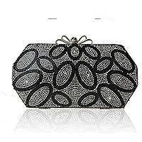 borsa da sposa nuovo arco fibbia diamante vestito Pochette banchetto borsa da sera borsa moda ( colore : Nero )