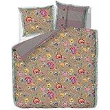 Pip Studio Bettwäsche Floral Fantasy Khaki 135-200 cm + 80-80 cm