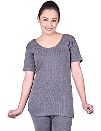DREAMDROP WARMERS GREY HALFSLEEVES THERMALS FOR WOMEN