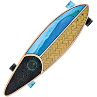 Kryptonics Longboard Through Komplettboard mit ABEC 5 Kugellager, Skateboarding