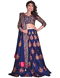 BHUMIK ENTERPRISE New Latest Designer Blue Floral Embroidered Work Lehenga Choli